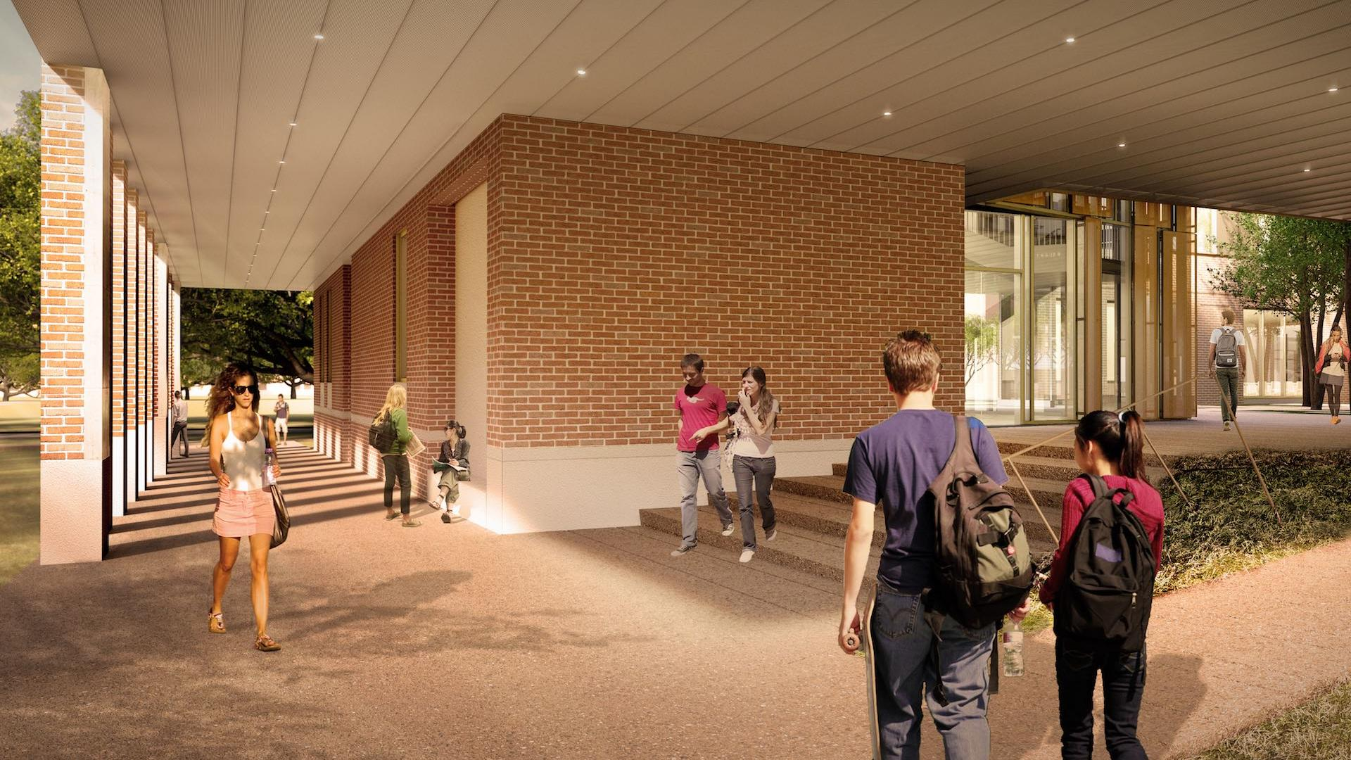 Kraft Hall rendering of the outside